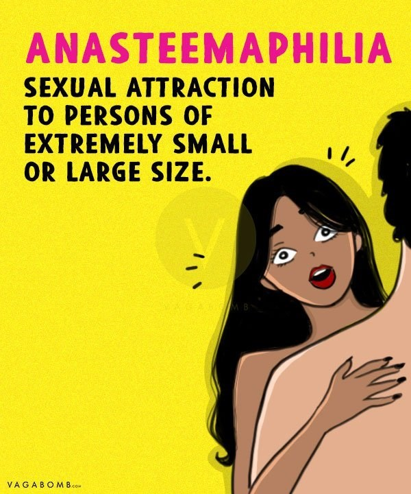 Text - ANASTEEMAPHILIA SEXUAL ATTRACTION TO PERSONS OF EXTREMELY SMALL OR LARGE SIZE VAGABOMB.co