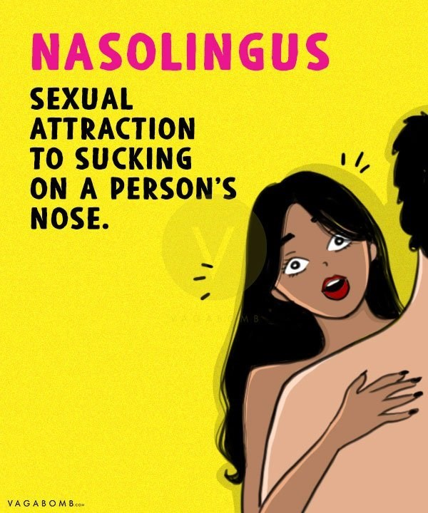 Text - NASOLINGU SEXUAL ATTRACTION TO SUCKING ON A PERSON'S NOSE. VAGABOMB.co
