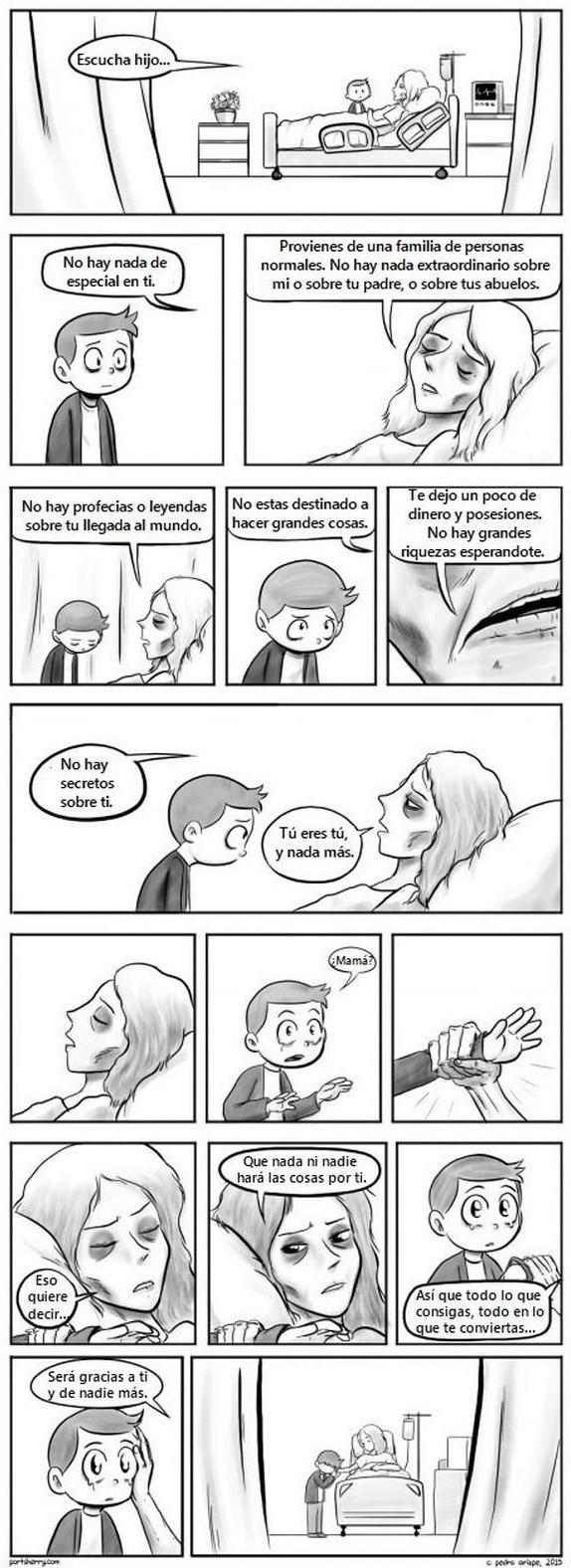 consejo de madre en su lecho de muerte a su hijo