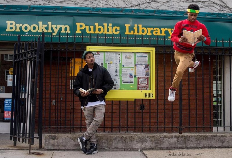 kids dancing in public places - Urban area - Brooklyn Public Library Red Ho HUB Nearly 1 New York needs be learning KEEP IN LIBR JordanMatter