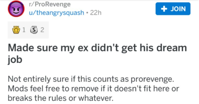 Girl makes sure that her ex-boyfriend doesn't get into the marines by providing an honest character reference about him being abusive.