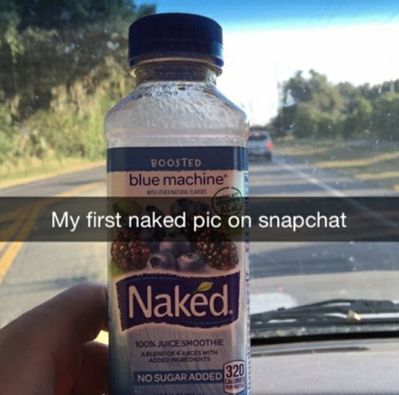 Snapchat of a naked drink