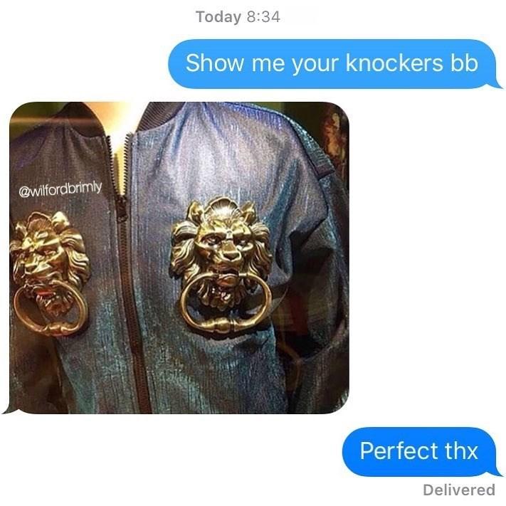 Funny meme about door knockers.