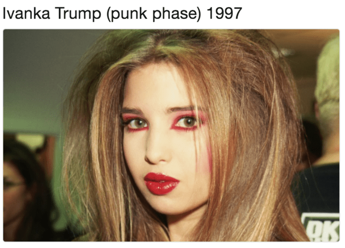 Hair - Ivanka Trump (punk phase) 1997 OK