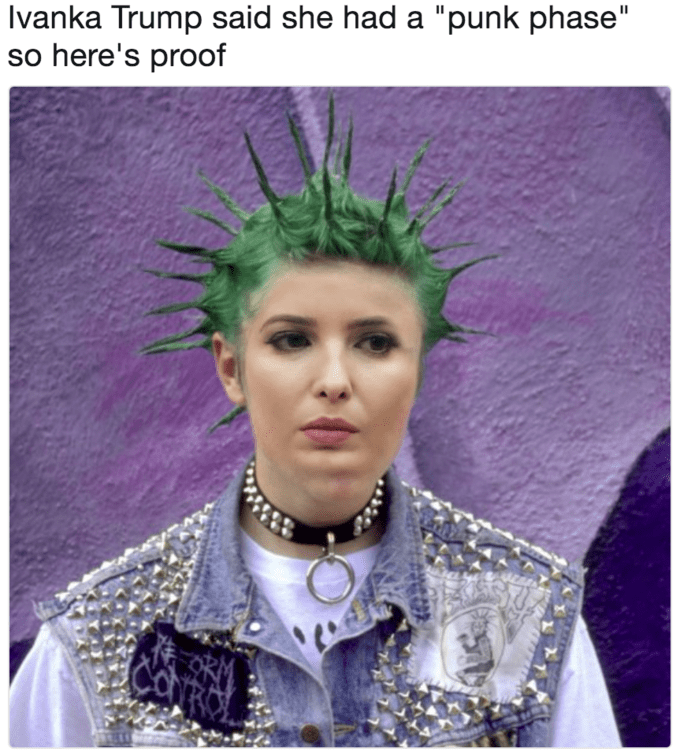 "Hair - Ivanka Trump said she had a ""punk phase"" so here's proof CORO"