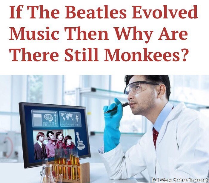 Funny meme about music evolution.