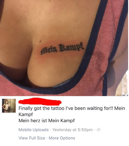 Tattoo - ein Rampt Finally got the tattoo I've been waiting for!! Mein Kampf Mein herz ist Mein Kampf Mobile Uploads Yesterday at 5:50pm View Full Size More Options