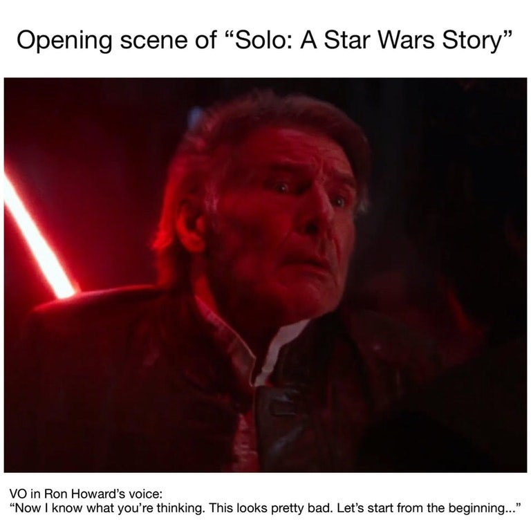 Funny meme mixing Han Solo and Arrested Development.
