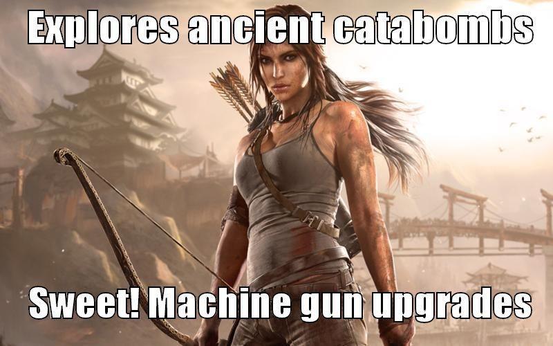 Woman warrior - Explores ancient catabombs Sweet!Machine gun upgrades