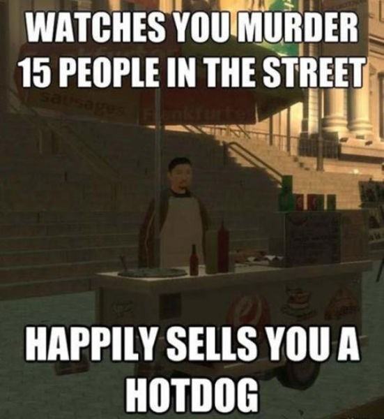 Font - WATCHES YOU MURDER 15 PEOPLE IN THE STREET HAPPILY SELLS YOOU A HOTDOG