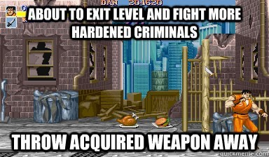Action-adventure game - 0SURDAN 20620 ABOUTTO EXIT LEVEL AND FIGHT MORE iHARDENED CRIMINALS THROWACQUIREDWEAPON AWAY