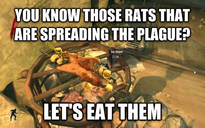 Fictional character - YOU KNOW THOSE RATS THAT ARE SPREADING THE PLAGUE? Rot Skewer LET'S EAT THEM