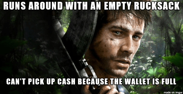 Movie - RUNS AROUND WITH AN EMPTY RUCKSACK CAN'T PICK UP CASH BECAUSE THE WALLET IS FULL made on imgur