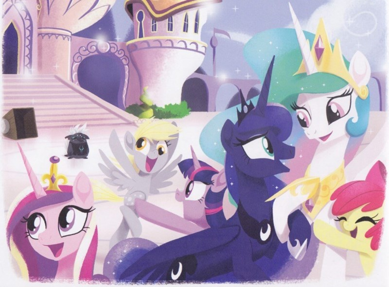 princess cadence my little pony the movie derpy hooves twilight sparkle apple bloom the great princess caper princess luna princess celestia grubber - 9087662080
