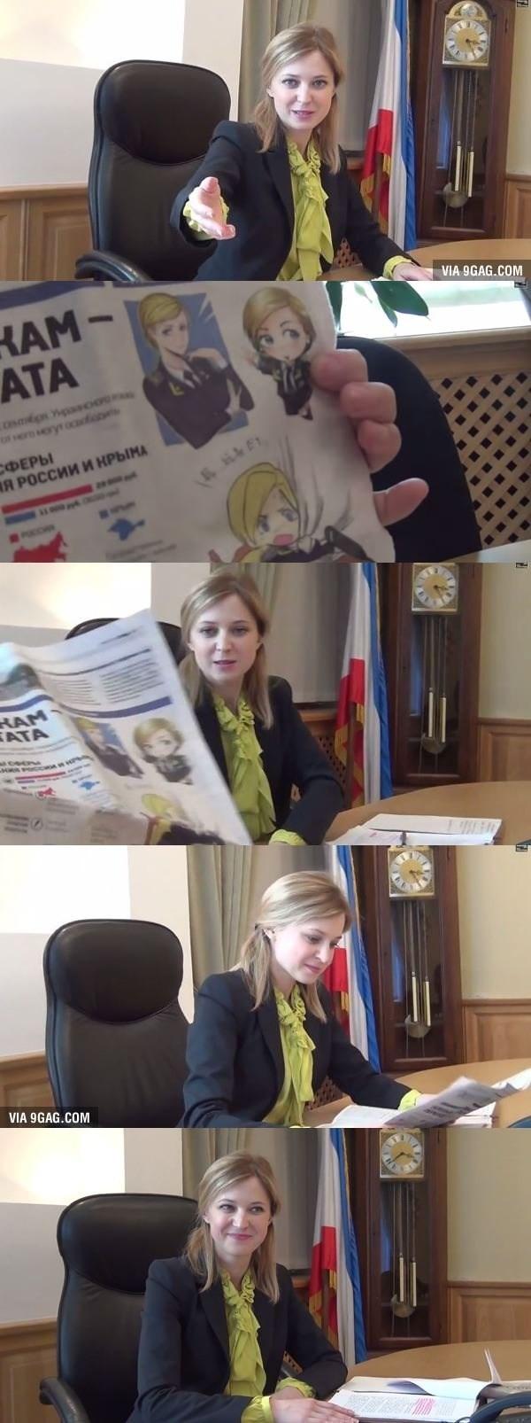 chica ucraniana se encuentra con su propio meme