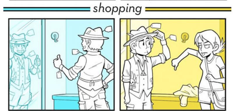 webcomic - Cartoon - shopping