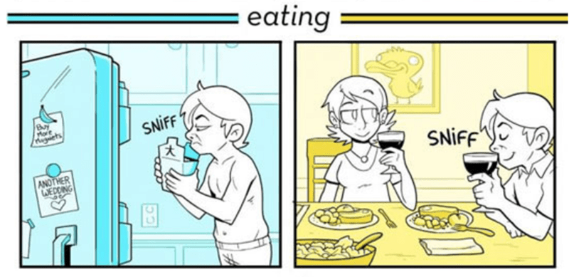 webcomic - Cartoon - eating Mort Rugcts NIFF NIFF ANOTHER WEDDING ALLA