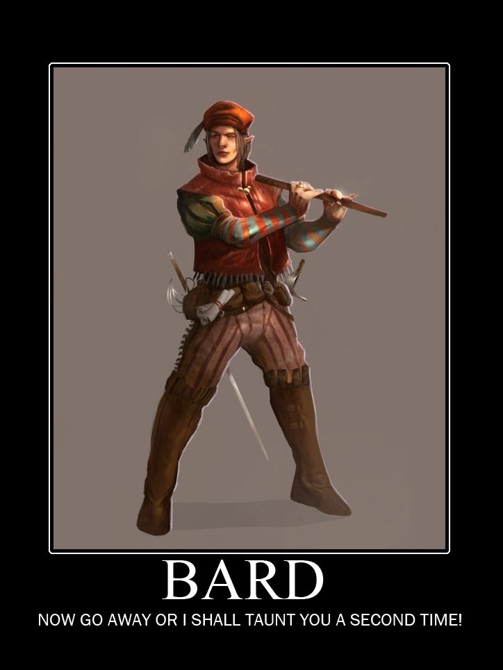 Poster - BARD NOW GO AWAY OR I SHALL TAUNT YOU A SECOND TIME!