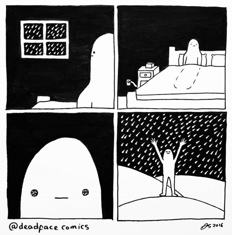 Cartoon - @deadpace comics BS2016