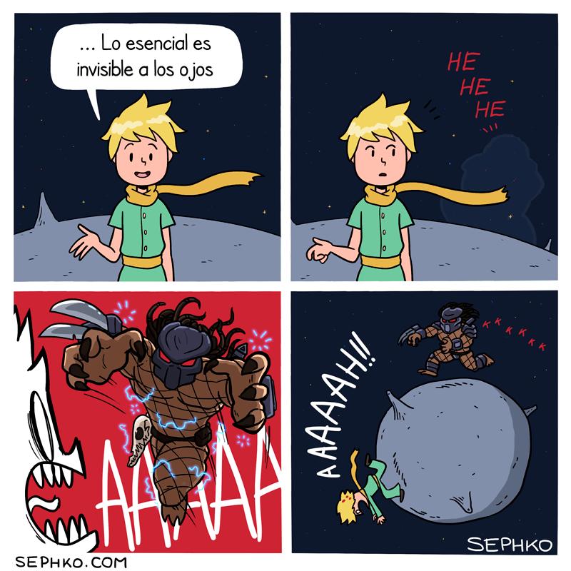 el depredador llega al planeta del pequeno principe