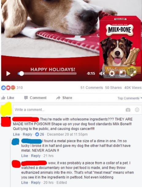 unbelievably dumb people knocking Milk Bone dog treats