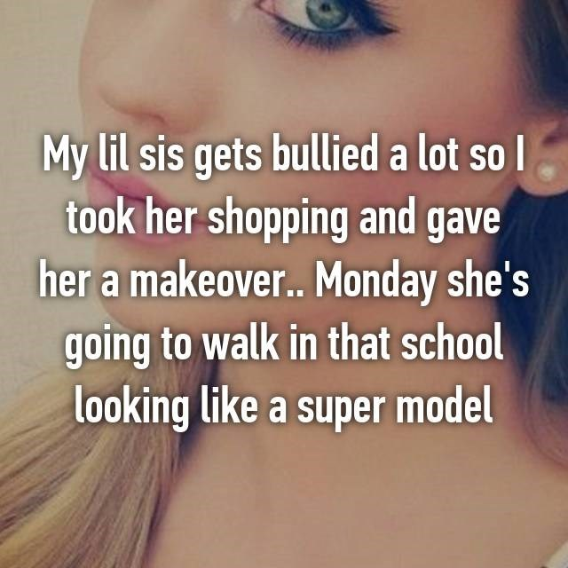 Hair - My lil sis gets bullied a lot so took her shopping and gave her a makeove.. Monday she's going to walk in that school looking like a super model