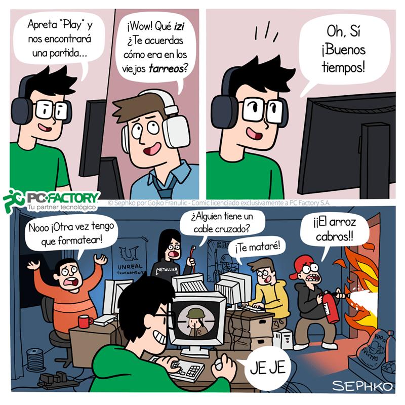 hora de la nostalgia fiesta lan videojuegos