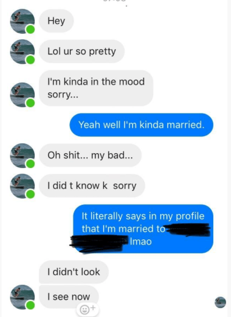 DM of cringeworthy man who didn't even read the other person's profile