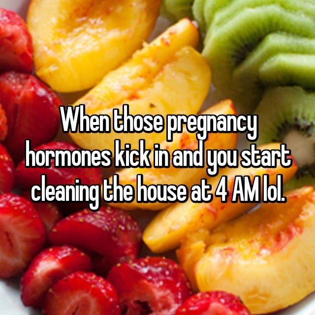 Natural foods - When those pregnancy hormones kick inand you start cleaning the house at 4 AMbl