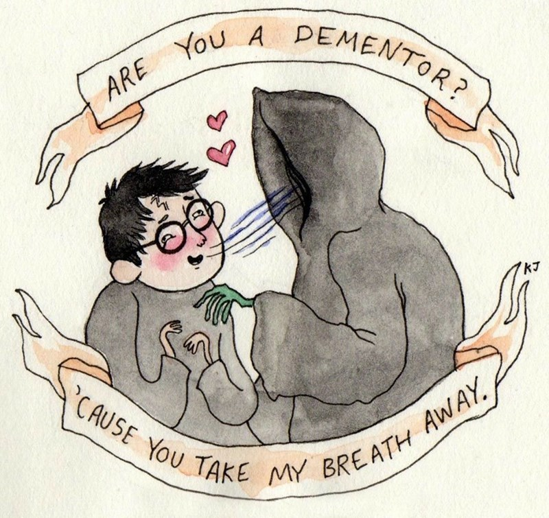 Cartoon - You A DEMENTOR? ARE KJ CAUSE YOU TAKE MY BREATH AWAY.
