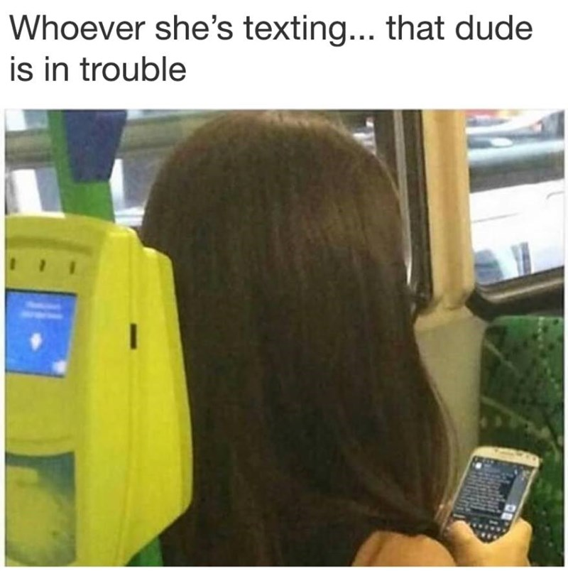 Funny meme about girl sending a long text, insinuating she is angry.