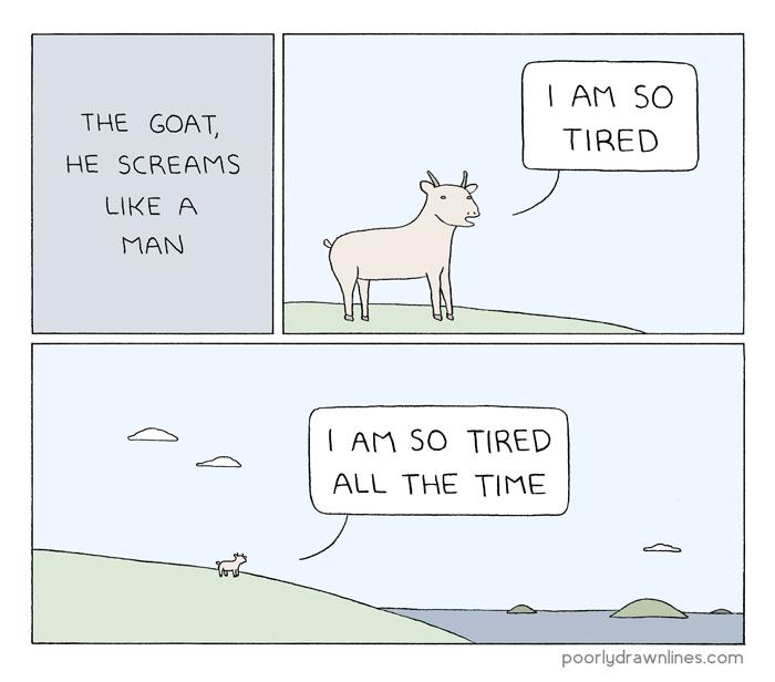 the goat he screams like a man