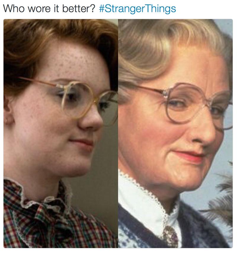 Face - Who wore it better? #StrangerThings
