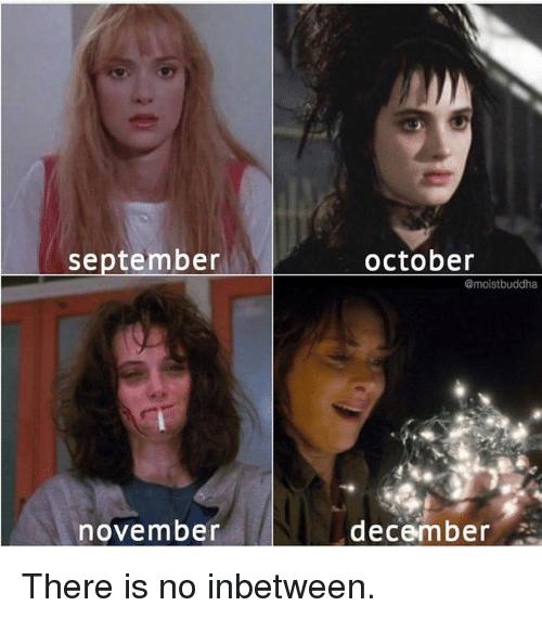 Face - september october Gmoistbuddha december november There is no inbetween.