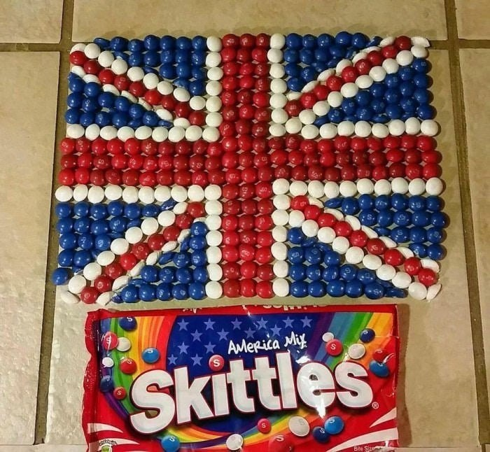 Text - Textile - AMerica Miy Skittles Bte