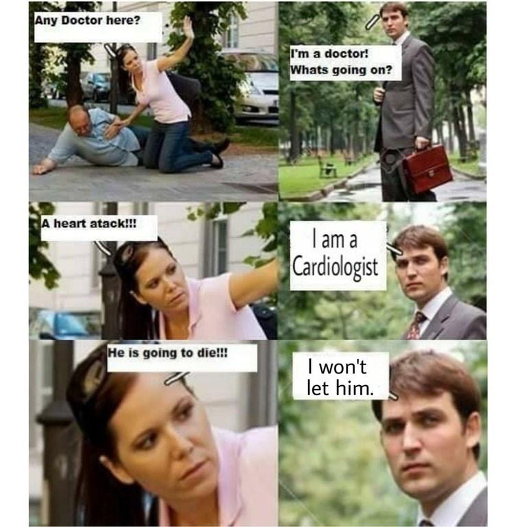 Meme about cardiologists