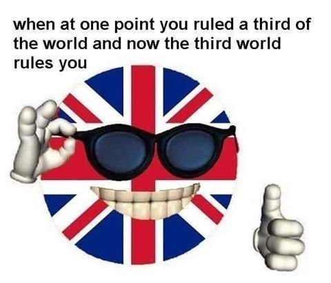 offensive UK ball meme meme about england and the uk once owning a third of the world