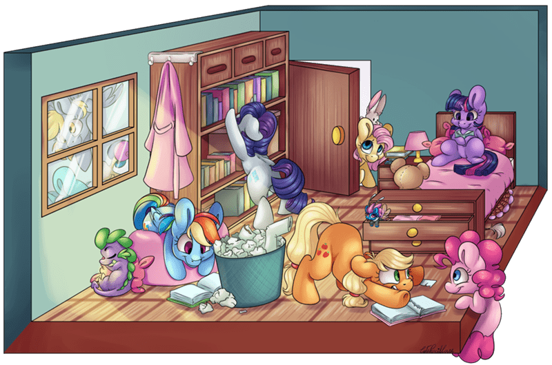 spike angel applejack discord seabreeze derpy hooves twilight sparkle lyra heartstrings breezie pinkie pie rarity cute pencil case fluttershy bon bon rainbow dash - 9090190848
