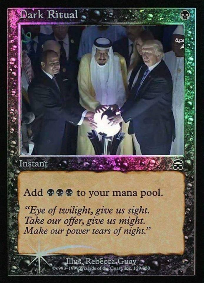 Funny meme of Donald Trump as a Magic the Gathering card.