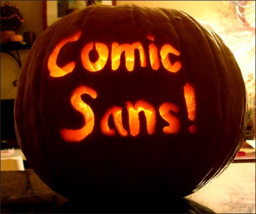 trick-or-treat - Comic Sans!