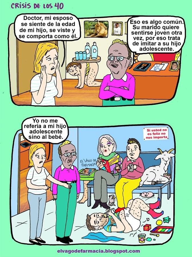 crisis de los 40 extremo vineta vago de farmacia