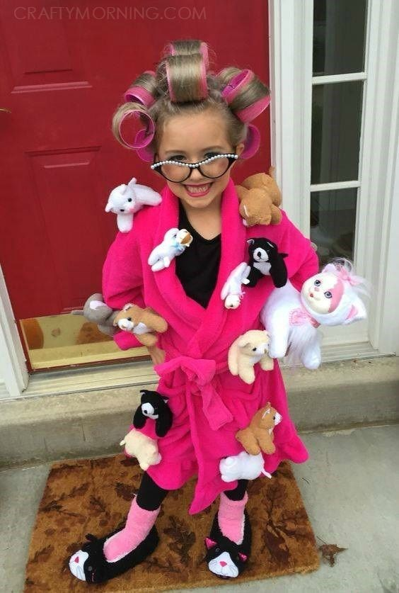 crazy cat lady costume - Pink - CRAFTYMORNING.COM