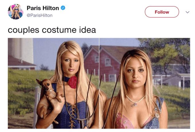 Beauty - Paris Hilton Follow @ParisHilton couples costume idea