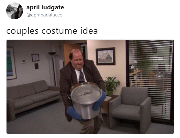 Presentation - april ludgate @aprilbadalucco couples costume idea