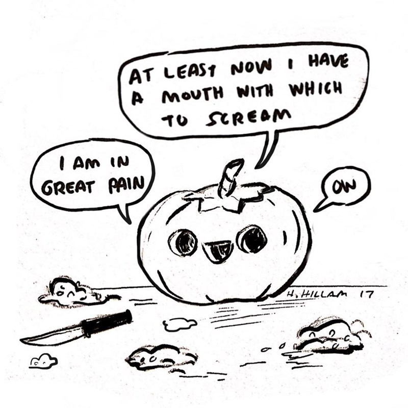 Funny web comic about a pumpkin.