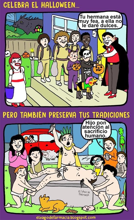 celebrando el halloween en otros paises y en el tuyo