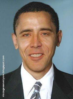 NIcolas Cage as Obama