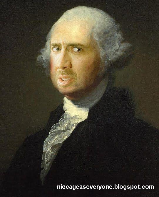 Nicolas Cage as George Washington