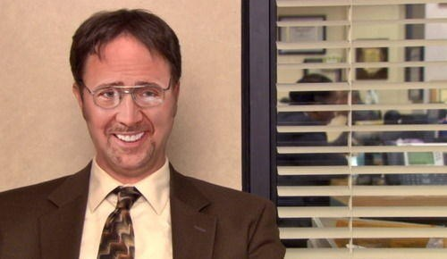 Nicolas Cage as Dwight from The Office