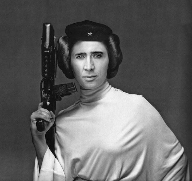 Nicolas Cage as Princess Leah